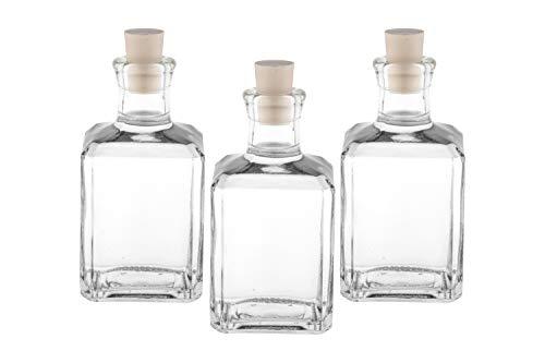 10 x 250ml Glas-Flaschen Leere zum abfüllen inklusiver Korken kleine Flaschen (10 Stück)