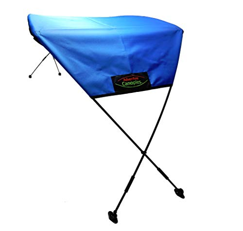Adventure Canopies Kayak Sun Shade - 10 Foot & Larger Kayaks (Marine Blue, Tarpon: Sit-On w/seat Above top Edge of Kayak)