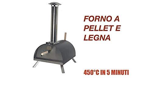 Il pi Venduto,L'Originale: Forno per Pizza A Pellet, Legna. 450C in 5 Minuti! 2 OMAGGI!