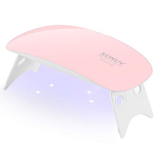 Lampada Led per unghie, Essiccatore UV portatile SUNUV Mini2 per gel Manicure Shellac Nail Polish Home Manicure Pedicure