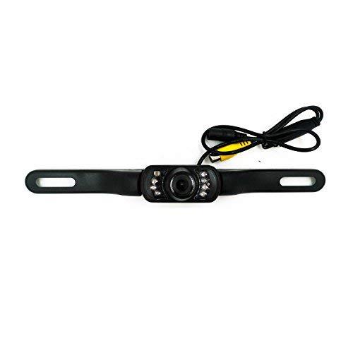 Telecamera posteriore per auto Alta definizione Colore Ampio angolo di visione Impermeabile Telecamera di backup targa impermeabile con 7 LED a infrarossi per visione notturna