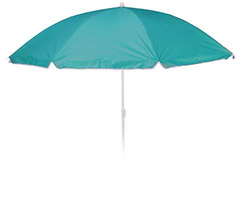 made2trade Sonnenschirm UPF 30+ Schutz - 185cm hoch mit einem Durchmesser von ca 155cm - Abknickbar mit 4 Haken und komfortable Tragetasche - Grün