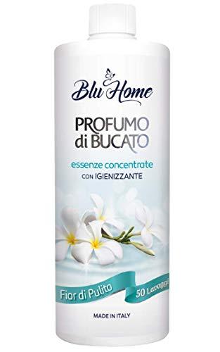 Blu Home Essenza Profuma Bucato con Igienizzante, Profumo per Bucato, Essenza Bucato, Lunga Durata, Super Concentrato per Lavatrice (Fior di Pulito, 500 ml)