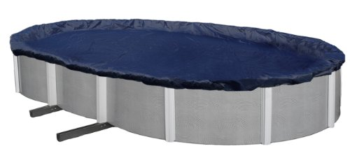 Blue Wave BWC720 Bronze 8-Year 15-ft x 30-ft Oval Above Ground Pool Winter Cover,Dark Navy Blue