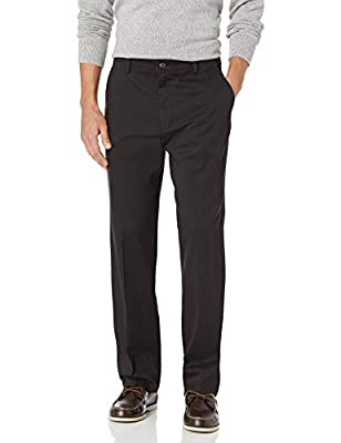 Eased fit through seat and thigh, sits at waist with a straight leg Stretch for performance Features side hand pockets and button-through welt pockets at back Soft hand Zip fly with button closure, single welt button through back pocket