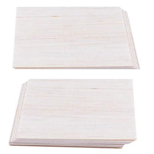 FLAMEER 20x Balsa Holzplatten Holzplatte Für DIY Flugzeug Modell 150 X100 X 2mm