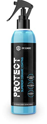 Epic Elements Protect Ceramic Coating for Cars Wax Spray   Premium Car Polish with Ultra SiO2...