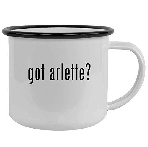 got arlette? - Sturdy 12oz Stainless Steel Camping Mug, Black