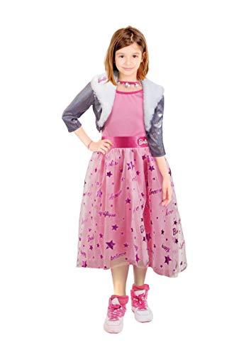 Ciao-Barbie Diva Princess costume travestimento bambina originale (Taglia 4-5 anni), Rosa, 11655.4-5
