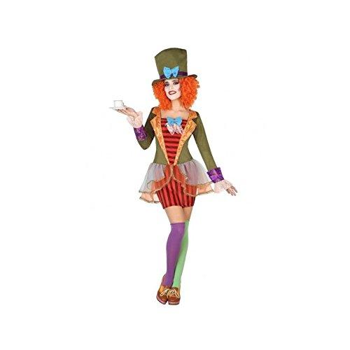 Atosa-38656 Disfraz Sombrerera Loca, Multicolor, XS-S (38656)
