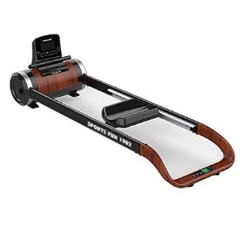 Rameurs Magnétique Pliant pour Un Exercice Complet du Corps, Poids Maximum 300 LB avec Écran LCD pour Gym À Domicile, Exercices Cardio Et Musculation (Color : Black, Size : 175 * 59 * 49 cm)