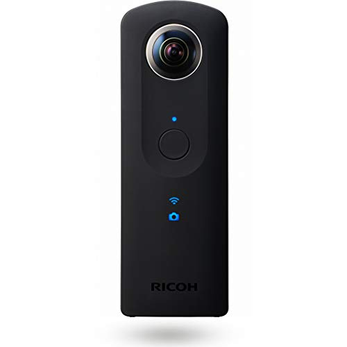Ricoh THETA S Fotocamera Digitale 360, 12 MP, Video Full HD 30 fps, Memoria Interna 8 GB, Nero