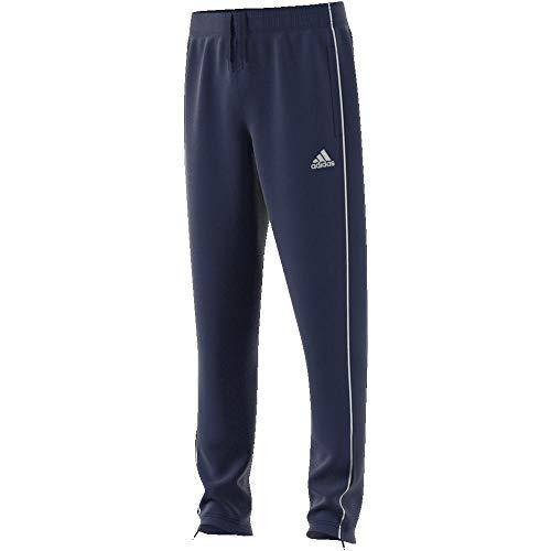 Adidas CORE18 TR PNT Y Sport trousers, Unisex niños, Dark Blue/ White, 1112