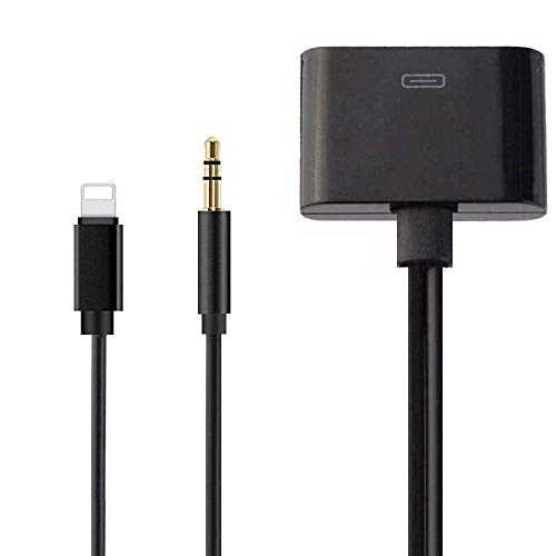 30 Pin Adapter   8 Pin Male to 30 Pin Female   Works with Smartphones, Cars, Docking Stations and More Black- 20cm