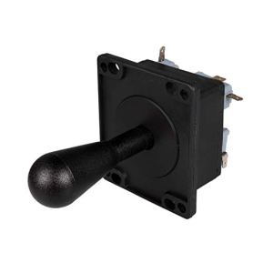 EG-STARTS-American-Style-Arcade-Competition-2Pin-Bat-Joystick-Switchable-from-8-Ways-Operation-Elliptical-Handle-Precision-8-Way-0187-48mm-Terminal-Black
