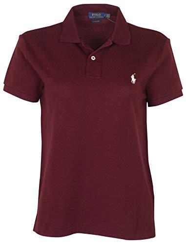 Polo RL Women's Classic Fit Mesh Pony Shirt (Red Wine, Medium)