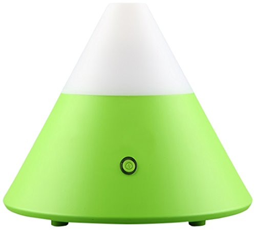 ZAQ Noor Essential Oil Diffuser LiteMist Ultrasonic Aromatherapy With Ionizer and Color-Changing Light - 80 ML Capacity, Green