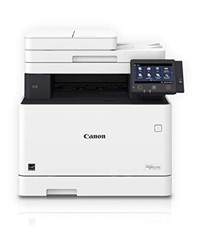 Canon Color imageCLASS MF743Cdw - All in One, Wireless, Mobile Ready, Duplex Laser Printer (Comes with 3 Year Limited Warranty), White, Mid Size, Amazon Dash Replenishment Ready