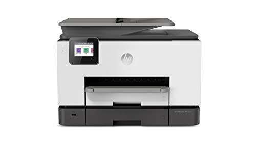 HP OfficeJet Pro 9025 All-in-One Wireless Printer, Single-pass (Automatic) Document Feeder & Two Paper Trays, Smart Home Office Productivity, Instant Ink, Works with Alexa (1MR66A)