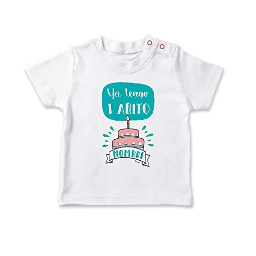 SUPERMOLON Camiseta bebé Ya tengo un añito Blanco 1-2 año