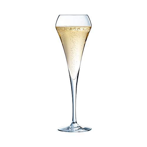 Chef & Sommelier, Bicchieri flûte, per spumanti e champagne da 200 ml, senza riferimento per il riempimento, 6 pezzi