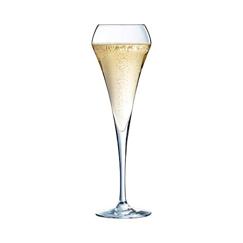Chef & Sommelier, Bicchieri flte, per spumanti e champagne da 200 ml, senza riferimento per il riempimento, 6 pezzi