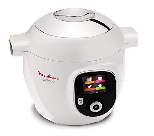 Moulinex Cookeo+, Multi-cottura Intelligente con 100 ricette italiane pre impostate, con Pannello di Controllo Intuitivo, 6 Modalità di Cottura, da 2 a 6 persone, Seconda Pentola Antiaderente Inclusa