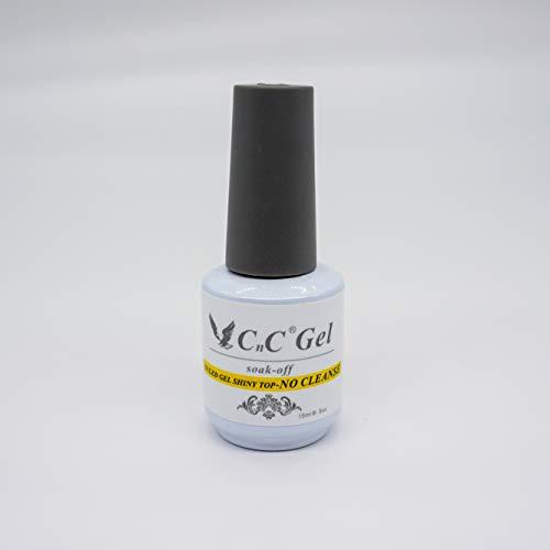 CnC Gel UV/LED Gel Shine Top - 15 ml (No Cleanse Top - CNCTNC)