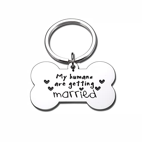 My Humans are Getting Married Dog Tags Personalized for...