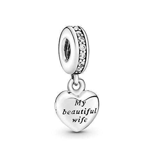 Pandora Jewelry My Beautiful Wife Dangle Cubic Zirconia...