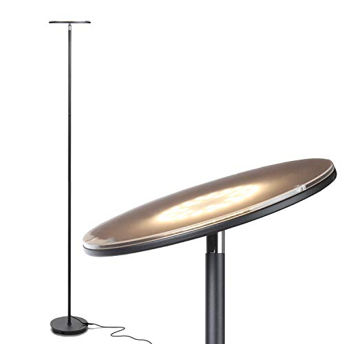 Brightech Sky LED Torchiere Super Bright Floor Lamp -...