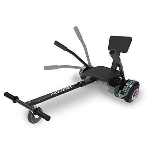 Hover-1 Chrome 2.0 Electric Hoverboard and Adjustable Go-Kart Attachment - Converts Hoverboard to...