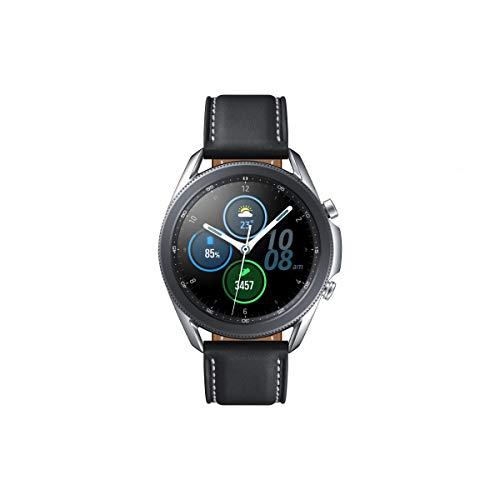 Samsung Galaxy Watch 3, Runde Bluetooth Smartwatch für Android, drehbare Lünette, Fitnessuhr, Fitness-Tracker, 45 mm, Mystic Silver. 36 Monate Herstellergarantie (Deutche Version)[Exkl. bei Amazon]
