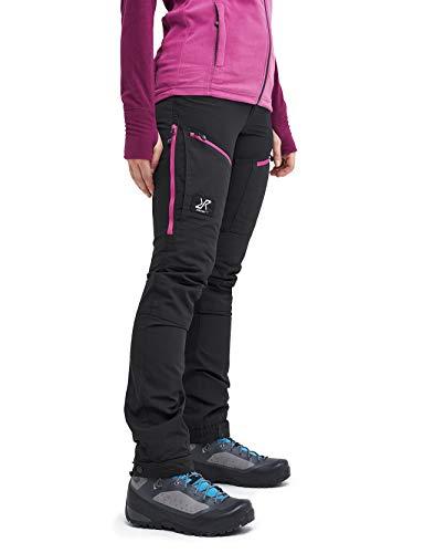 RevolutionRace Damen GPX Pro Pants, Hose zum Wandern und für viele Outdoor-Aktivitäten, Grey/Pink, 40