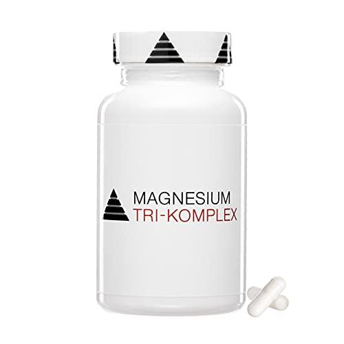 Hochdosierte Magnesium Kapseln für 60 Tage   Citrat, Bisglycinat & Aspartat   Vegan   600mg/Kapsel