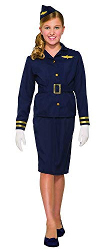 Forum Novelties Girl's Flight Attendant Costume, Large