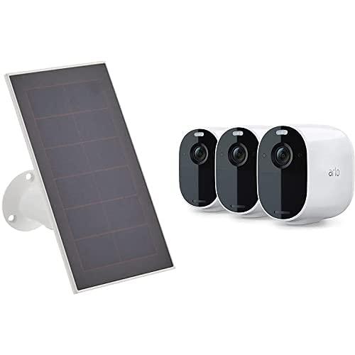 31fWboohWzS._SL500_ [Bon plan Arlo] !  Pack Arlo composé de : Panneau Solaire Pour Essential et 3 Caméras Essential - Blanc