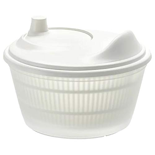 Ikea TOKIG Salad Spinner, White with TSS Cotton Balls