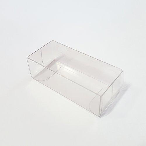 N.20 Pezzi scatola regalo portaconfetti astuccio trasparente mm. 60x27x20