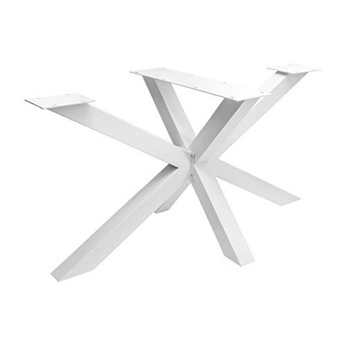 HOLZWERK24 Spider Tischgestell SPK 204 Kreuz X Design Tischgestell Stahl weiß 1200mm