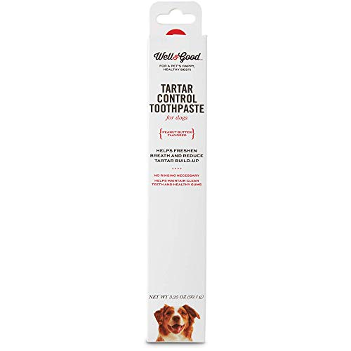 Well & Good Tartar Control Toothpaste for Dogs, Peanut Butter Flavor, 3.25 oz.
