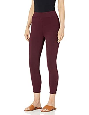 A classic legging shaped from smooth, stretch fabric creates a put-together look that's equally lounge-worthy Features ankle side zips Our knit Ponte fabric provides the all-day comfort of leggings while holding its shape for a pulled-together look t...