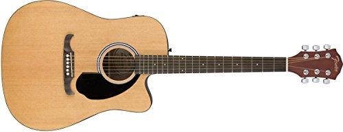 Chitarra elettroacustica Fender FA-125ce Dreadnought con spalla mancante, colore legno naturale