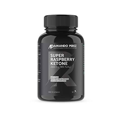 Super Raspberry Ketone 2500 mg - 60 Kapseln - Einer der stärksten Himbeer Keton Fatburner - 98% reiner Aktivstoff KETON