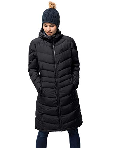 Jack Wolfskin Damen Selenium Coat Mantel, Black, L