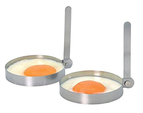 Kitchen Craft Set 2 anelli per uova in acciaio INOX
