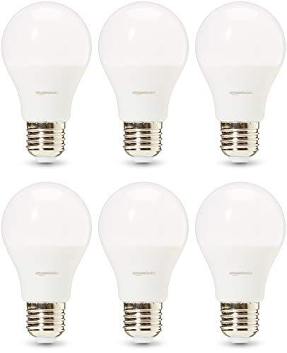 AmazonBasics Professional - LED-Leuchtmittel, Edison-Schraubgewinde (E27), entspricht 75-Watt-Birne, Warmweiß, 6 Stück