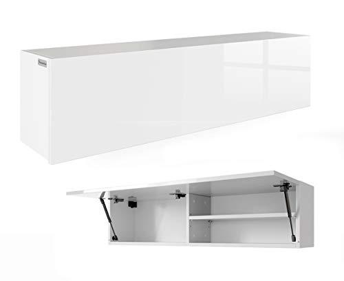 Armadio mobili da bagno pensile, orecchini lucido bianco-bianco 120cm