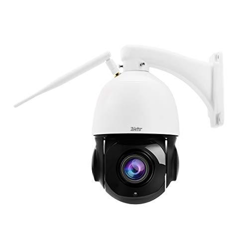 Telecamera PTZ IP WiFi da 5 MP, telecamera dome esterna, audio bidirezionale incorporato, zoom ottico 20x, riconoscimento della forma umana, telecamera ONVIF, visione notturna a infrarossi fino a 70m