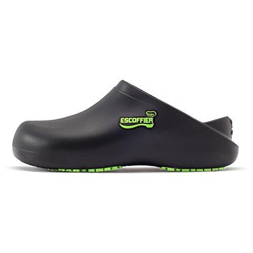 Product Image 2: ESCOFFIER Waterproof Slip Resistant Kitchen Chef Clog - Non Slip Work Mule Shoes for Men Women, Black, 11 Women/9 Men